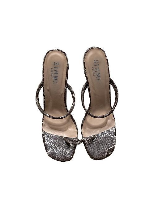 SIMMI London snake print heels