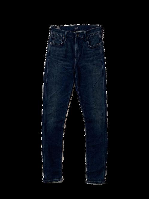 High rise medium wash jeans