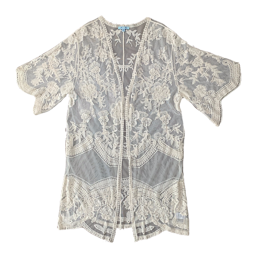 Lace embroidry shawl