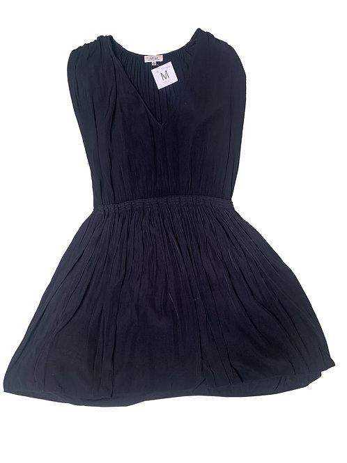 Wilfred black v-neck sleeveless dress