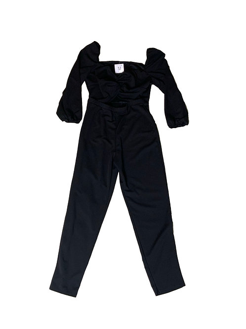 Gibiu black jumpsuit