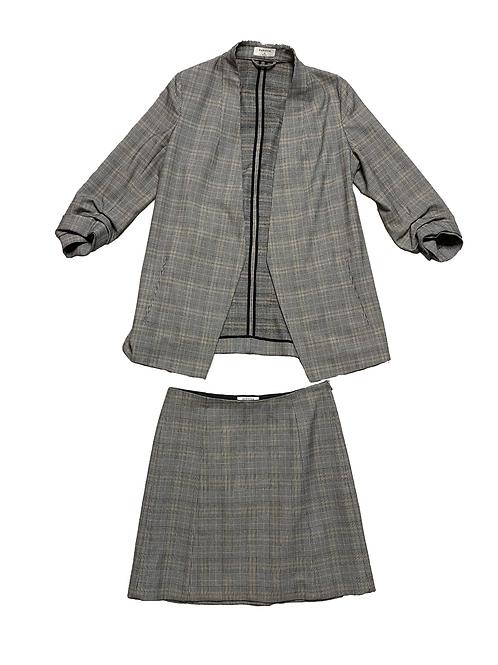 Babaton Plaid Blazer Skirt Set