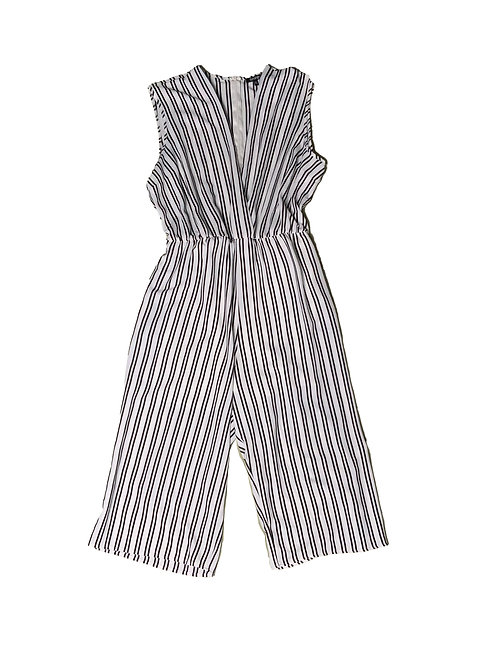 George black and white striped jumpsuit