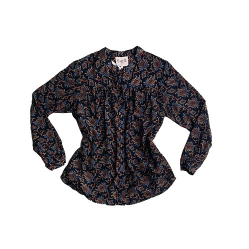 Sea NY paisley button down long sleeve blouse