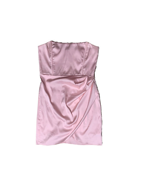 Meski pink strapless cocktail dress