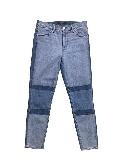 J. Brand medium washed high rise crop jeans