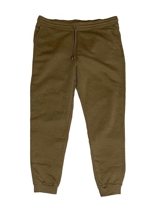 H&M khaki green cotton jogger sweatpants