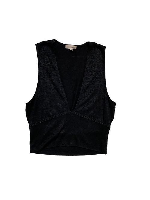 Wilfred black v neck sleeveless crop