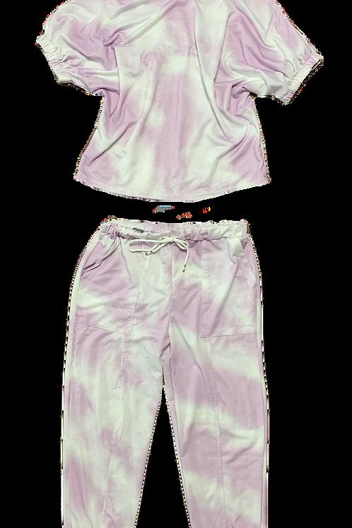 Lilac tie dye set
