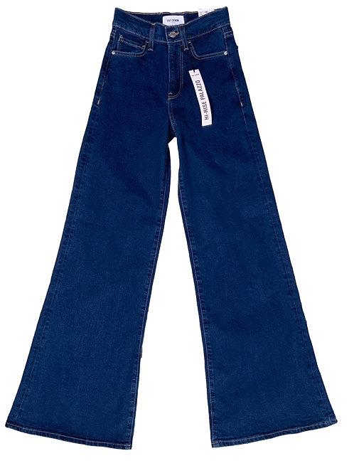 Zara TRF dark washed wide-leg jeans
