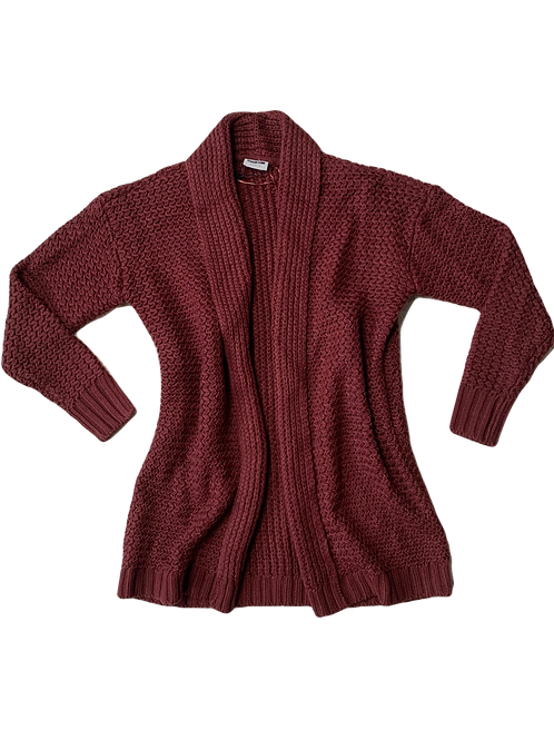 Noisy May burgandy knit cardigan