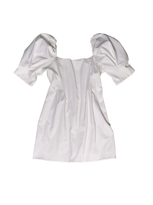 Zara white puff sleeve dress