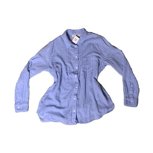 H&M blue striped button down long sleeve