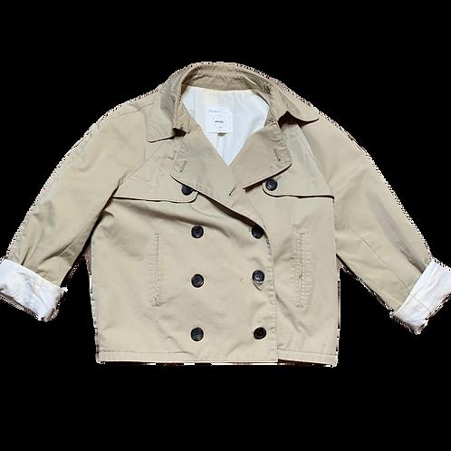 Beige cropped jacket