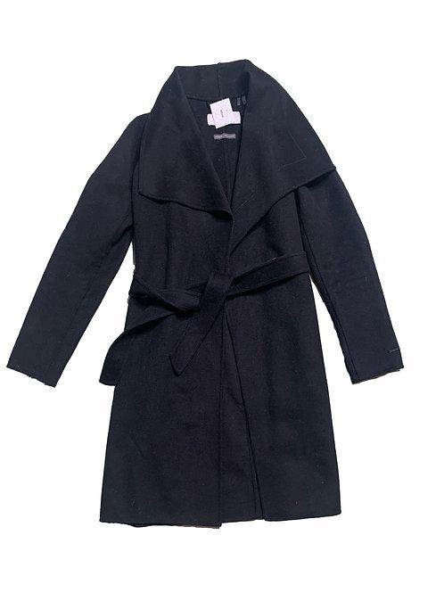 T. Tahari black waterfall collared jacket