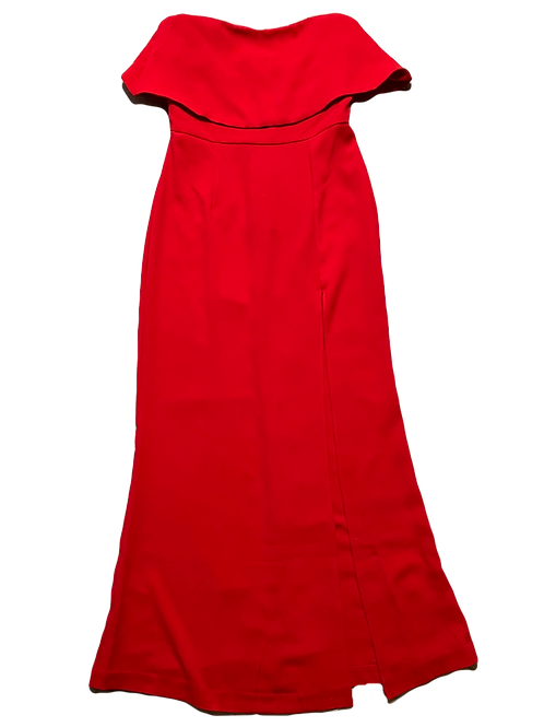 Lovers and friends red strapless gown