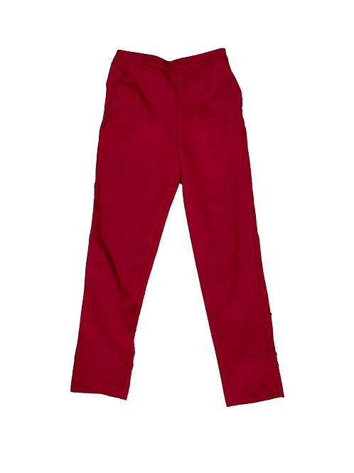 Topshop red dress pants