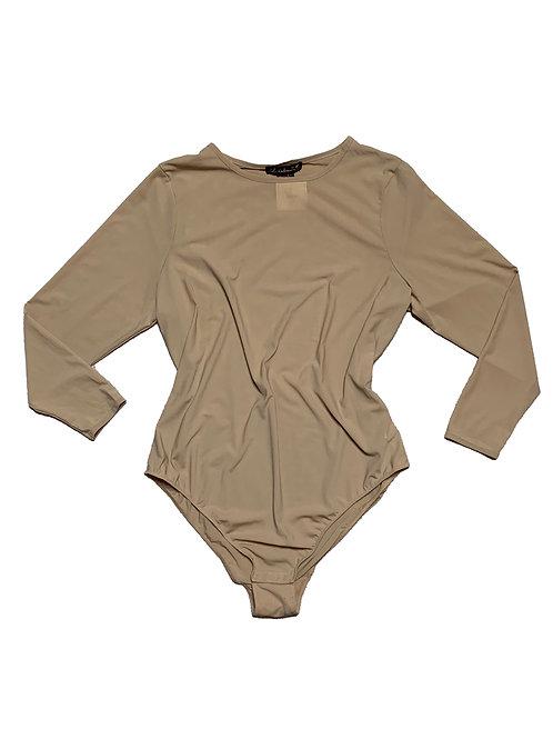 F21 sheer nude bodysuit