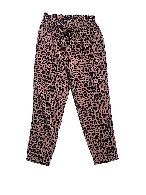 Dynamite pink cheetah print tie pants