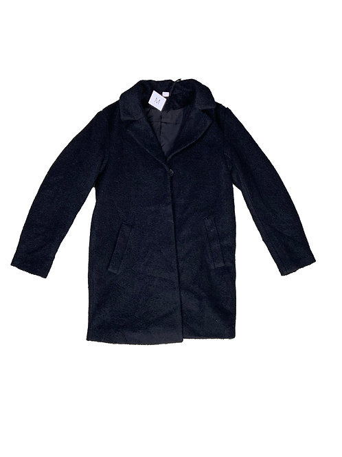 H&M black boucle jacket