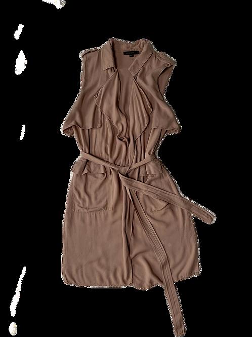 Tan wrap vest