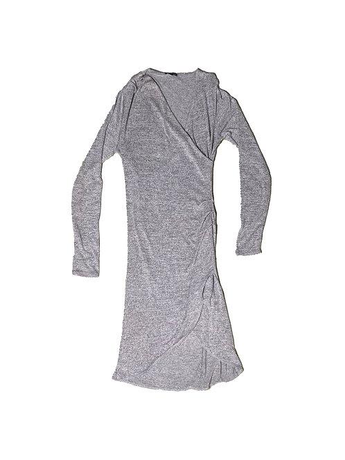 Wilfred Free grey marl long sleeve dress