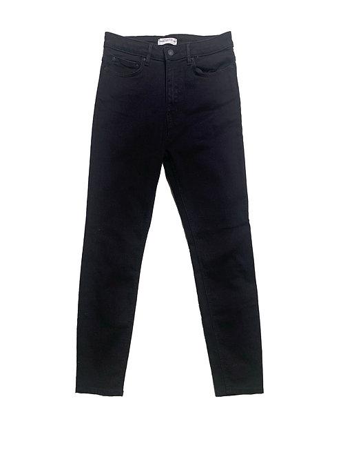 Zara black high rise skinny jeans