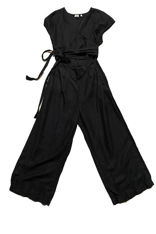 Wilfred black tie jumpsuit