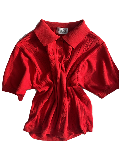 Red prep top