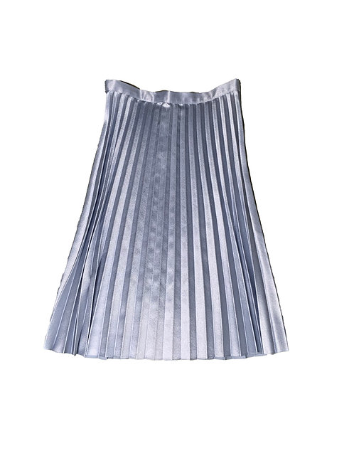 Pieces baby blue pleated midi skirt