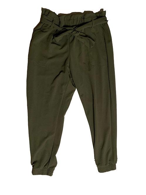 Fashionnova olive tie-up dress pants