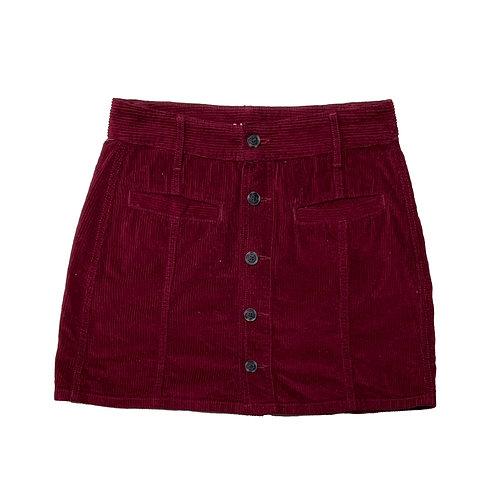 American Eagle burgundy corduroy skirt