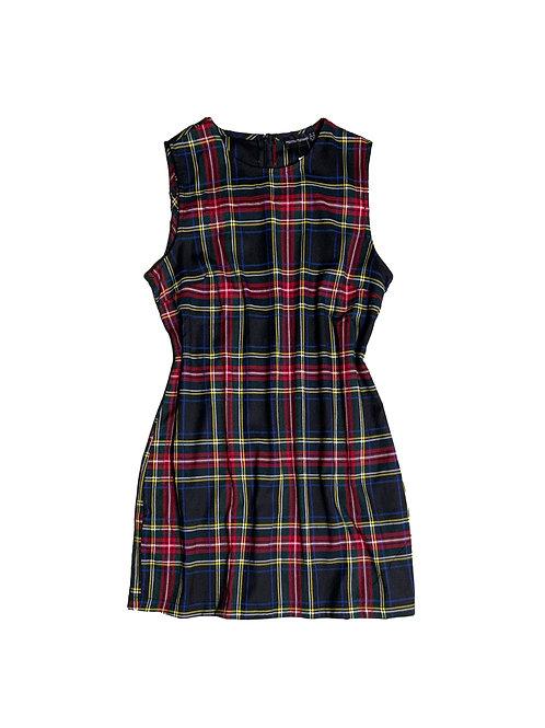 Pretty Little Thing multi-coloured plaid sleeveless dress
