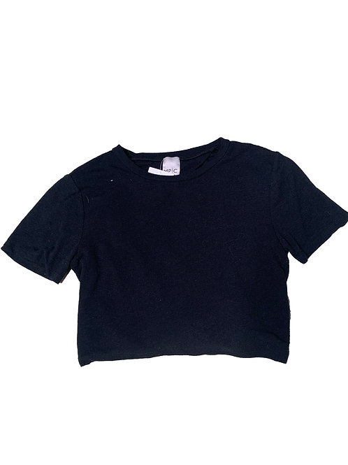 MPC black backless top