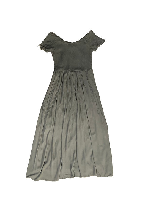 Rebellion olive green maxi dress