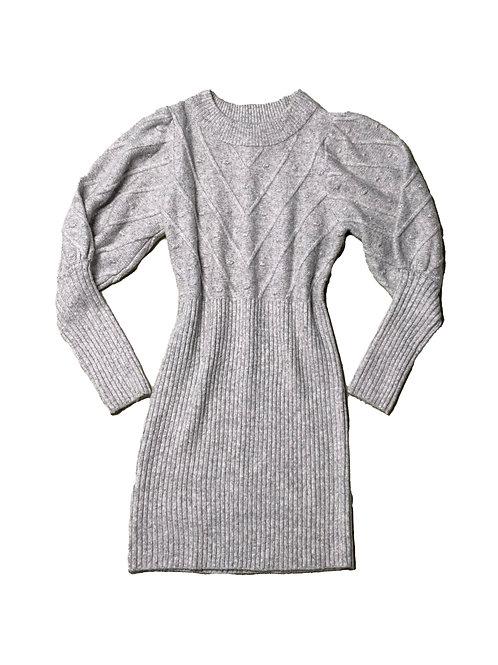 River Island grey knit sweater dress