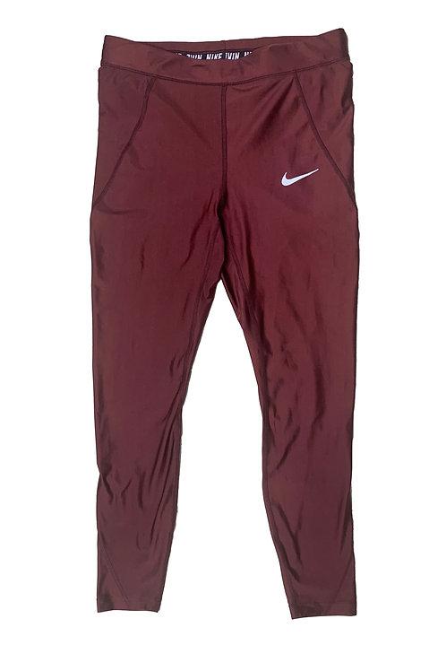 Nike burgundy althetic tights