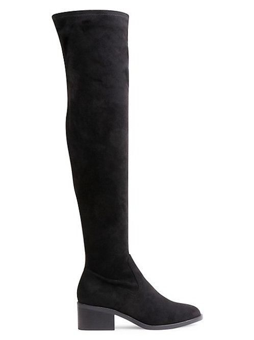Suede thigh highs