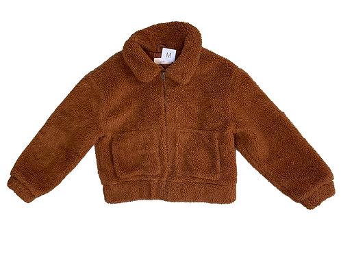 Thread + Supply brown teddy coat