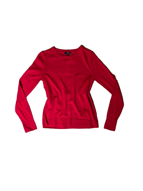 J Crew red knit long sleeve