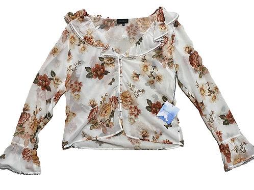 Majorelle floral blouse