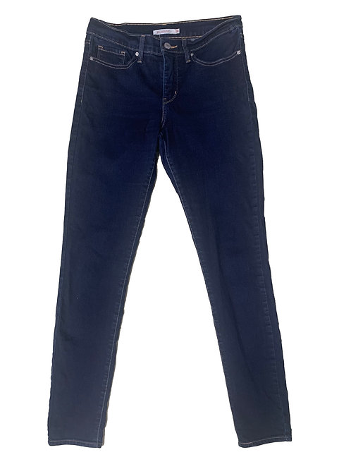 Levi's dark wash 720 high rise super skinny jeans