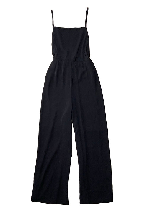 Forever21+ black halter-neck jumpsuit