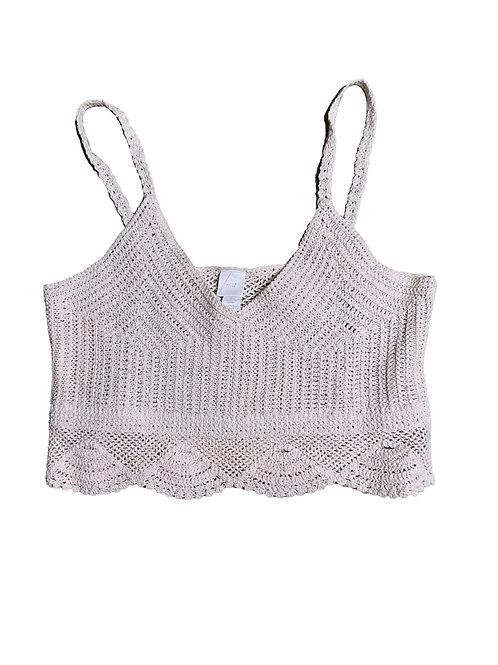 H&M off-white crochet crop top