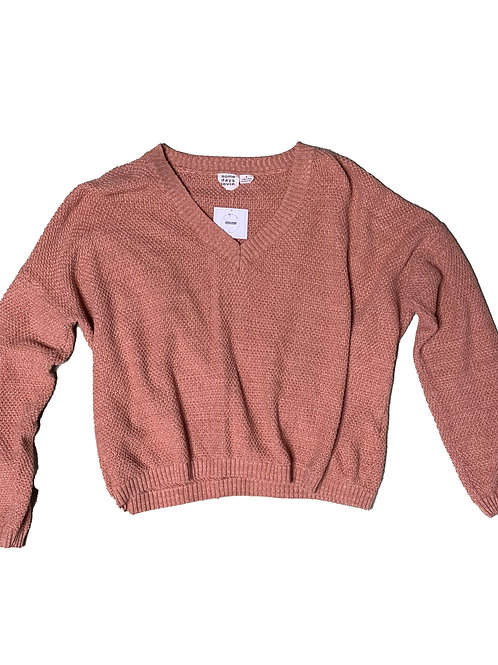 Some Days Lovin salmon long sleeve knit top