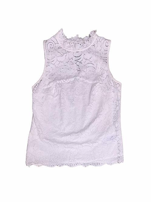 Banana Republic cream eyelet lace sleeveless blouse