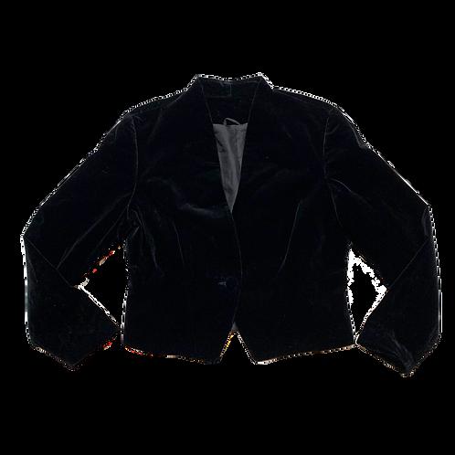 Principles black velvet blazer