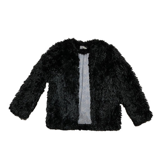 Zadig black fur jacket