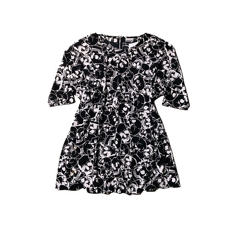 Noisy May black & white skull dress