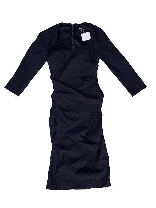 Le Chateau black ruched dress